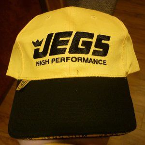 JEGS HIGH PERFORMANCE HAT STITCHED Drag Racing Car